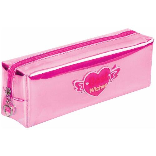 Юнландия Пенал-косметичка Glossy розовый недорого