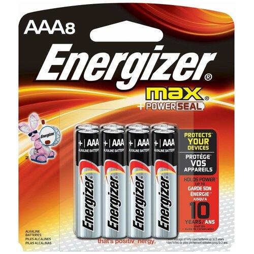 Фото - Батарейка Energizer Max AAA/LR03, 8 шт. батарейка energizer max aaa lr03 алкалиновая 4bl