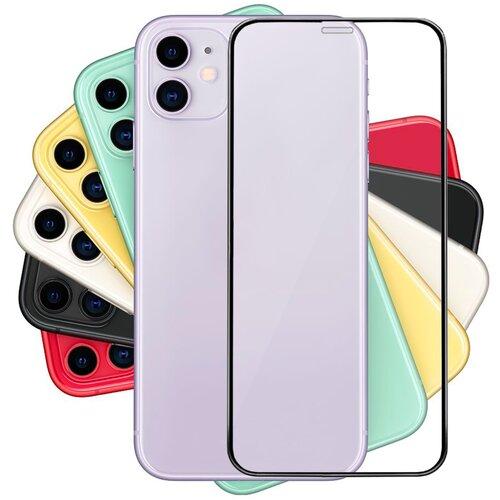 Полноэкранное защитное стекло для Apple iPhone XR и iPhone 11 / Стекло для Эпл Айфон Икс Р (10 эр) и Айфон 11 / 3D Полная проклейка экрана (Черный)