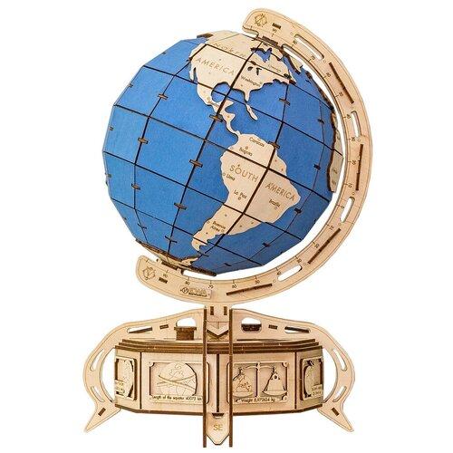 Фото - Сборная модель Eco Wood Art Глобус голубой сборная модель eco wood art глобус голубой