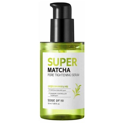Some By Mi Super Matcha Pore Tightening Serum Сыворотка для сужения пор, 50 мл, сыворотка с экрактом чая матча сыворотка для сужения пор pore control tightening serum 30мл
