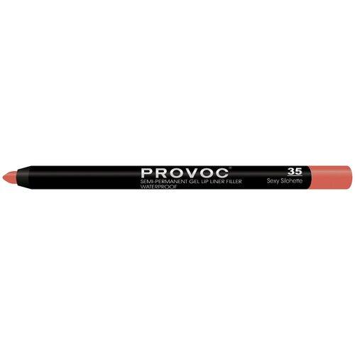 Provoc гелевая подводка в карандаше для губ Semi-Permanent Gel Lip Liner 35 sexy silohette недорого