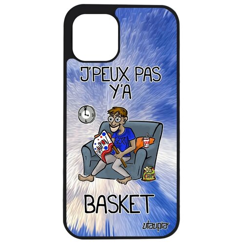 """Чехол на мобильный Apple iPhone 12 pro, """"Не могу - смотрю баскетбол!"""" Спорт Шутка"""