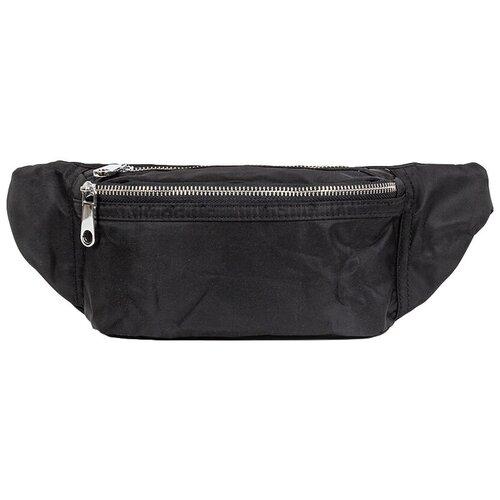 сумка на пояс женская dimanche регби цвет черный 231 1f Сумка текстильная на пояс и через плечо, водоотталкивающая пропитка, черный цвет, размер 20х15х7 см