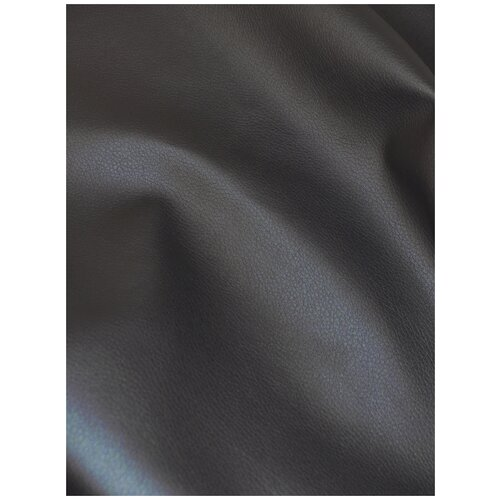 Экокожа автомобильная, искусственная кожа, гладкая - 140х200 см, цвет: серый