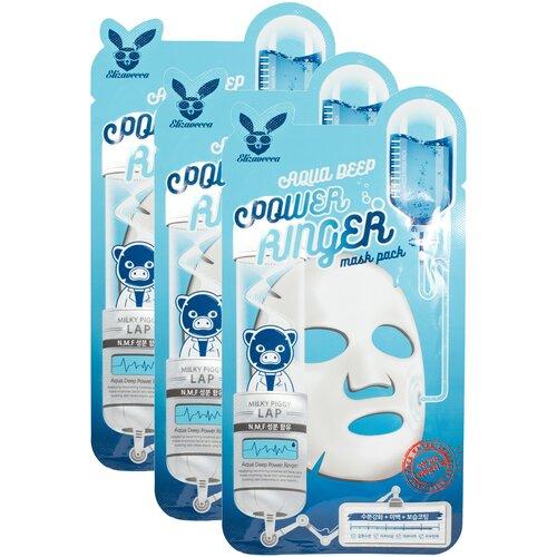 Elizavecca Увлажняющая тканевая маска Aqua Deep Power Ringer Mask Pack, 23 мл, 3 уп. недорого