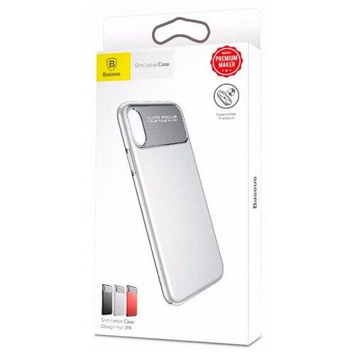 Фото - Чехол-накладка Baseus Slim Lotus Case для Apple iPhone X white чехол накладка baseus thin case для apple iphone x black