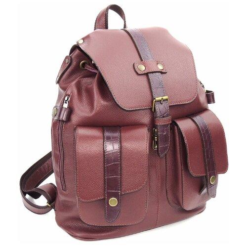 Фото - Бордовый кожаный рюкзак Natalia Kalinovskaya «Бордовый топаз» рюкзак 605030 бордовый