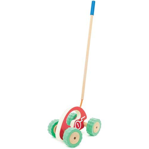 Купить Каталка-игрушка Мир деревянных игрушек Ролли Машина (Д398) красный, Каталки и качалки