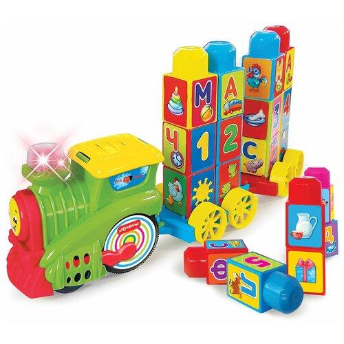 развивающая игрушка азбукварик музыкальный домик ферма зеленый Развивающая игрушка Азбукварик Музыкальный поезд Буковка, зеленый