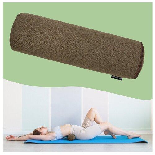 Подушка ортопедическая (Валик спортивный) AMARO HOME Sport Roll (коричневый)