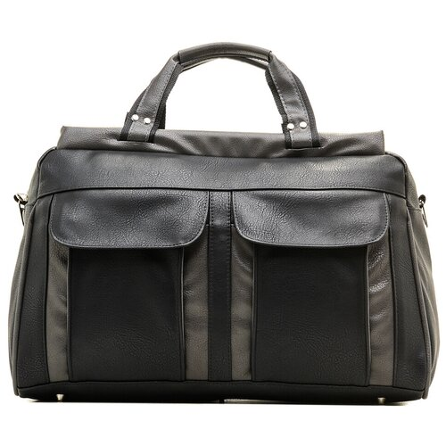 Дорожная сумка-саквояж, AST, черный, 100% искусственная кожа