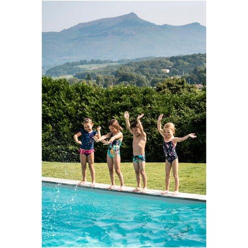 Плавки–боксеры детские, размер: 12 МЕСЯЦЕВ, цвет: Тропический Зеленый NABAIJI Х Декатлон