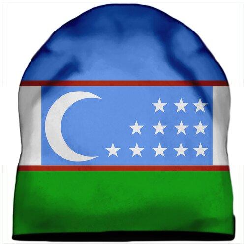 Шапка мужская Флаг Узбекистана