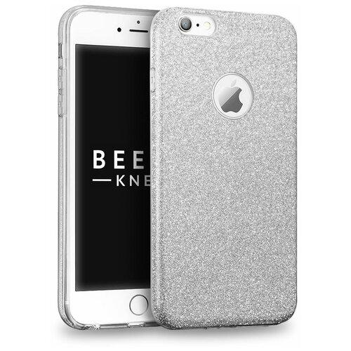 Чехол на айфон 6 / 6с . Накладка - бампер для iPhone 6 / 6s. Серебристый. Серебристый