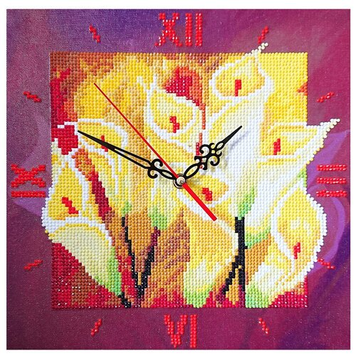Фото - Color Kit Набор алмазной вышивки с часовым механизмом Семейное счастье (7303017) 30х30 см color kit набор алмазной вышивки с часовым механизмом две стихии 7303013 30х30 см