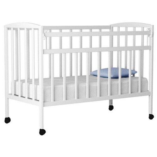 Кроватка Волжская деревообрабатывающая компания Кр1-01м (классическая) белый