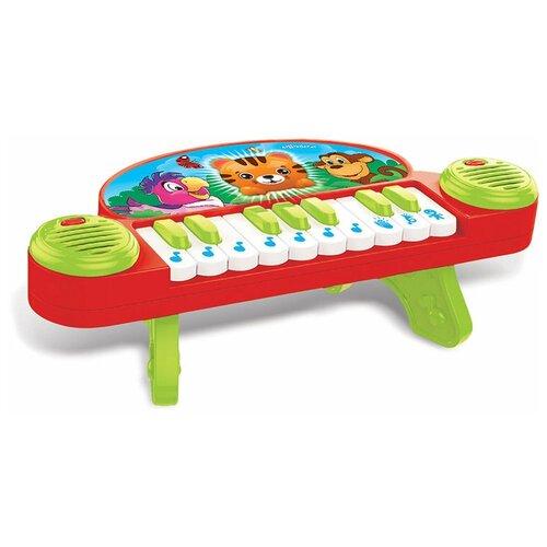 Купить Развивающая игрушка Азбукварик Мультипианино Песенки друзей, красный/зеленый, Развивающие игрушки