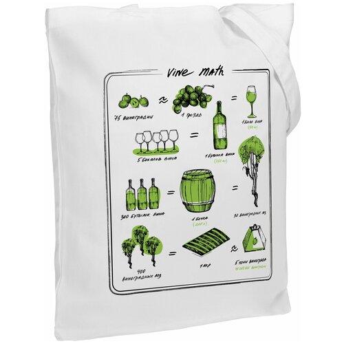 Сумка-шоппер Wine Math, молочно-белая