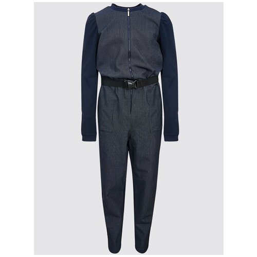 брюки женские oodji ultra цвет темно синий 11706193b 42841 7901n размер 38 170 44 170 Комбинезон Nota Bene размер 170, темно-синий
