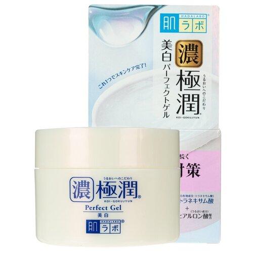 Купить Rohto HADALABO Koi-Gokujyun Perfect Gel Гиалуроновый гель для лица выравнивающий тон кожи 100 гр.