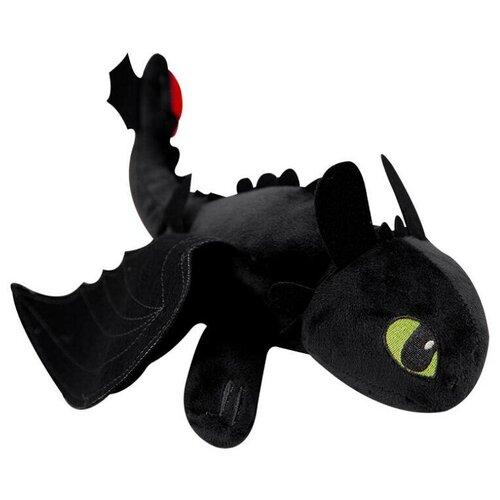 Игрушка мягкая Беззубик дракон- фурия 50см черный