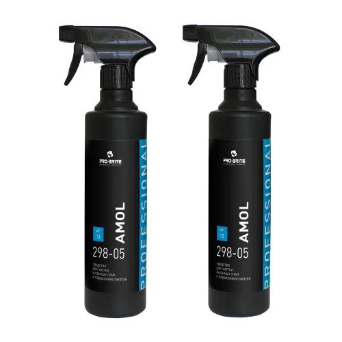 Высокоэффективное жидкое средство для чистки плит, духовых шкафов и сковород от пригаров Pro-Brite AMOL, 500 мл, 2 шт. недорого