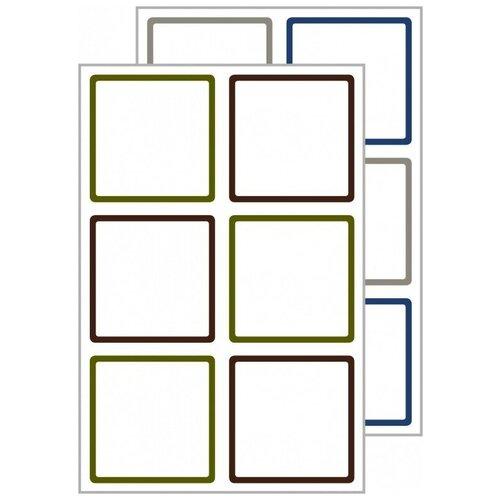 Фото - Этикетки для СВЧ посуды и посудомоечных машин Living, 47,5x48,5 мм, белые этикетки для кухни living 48 мм белые