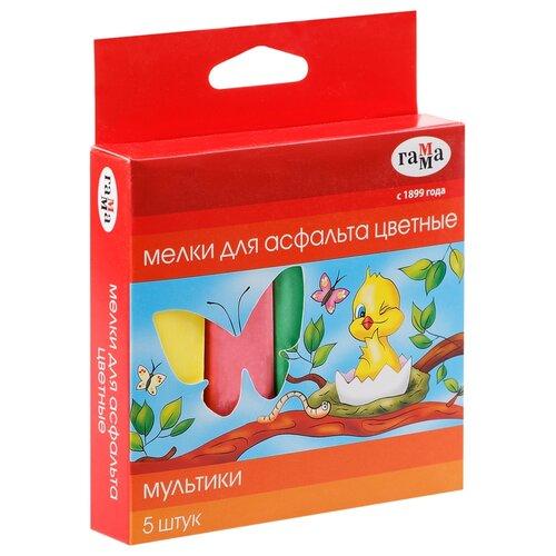 ГАММА Мелки для асфальта Мультики, 5 цветов