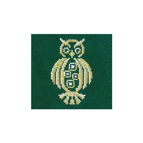 Набор для вышивания Сделай своими руками ССР.З-27 Золотые украшения.Сова 12х12 см