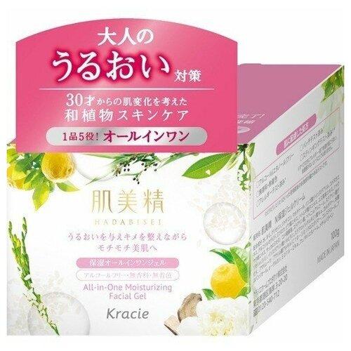 KRACIE Hadabisei Крем-гель для лица увлажняющий c экстрактами японских растений 100 гр.  - Купить