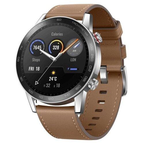 Умные часы HONOR MagicWatch 2 46мм leather strap, льняной коричневый