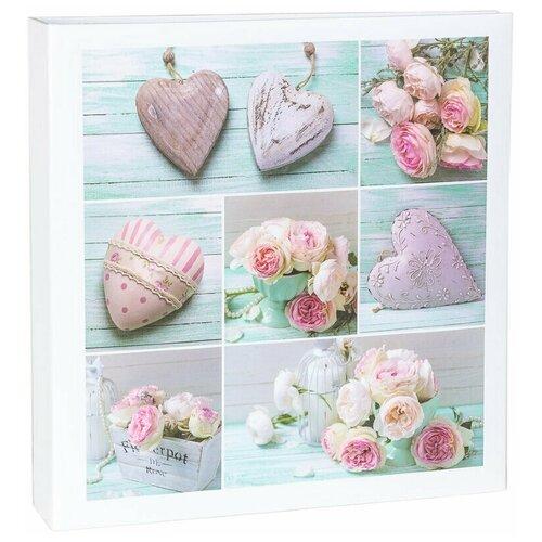 Фотоальбом «Сердечки и цветы», 500 фото в кармашках, металлические кольца