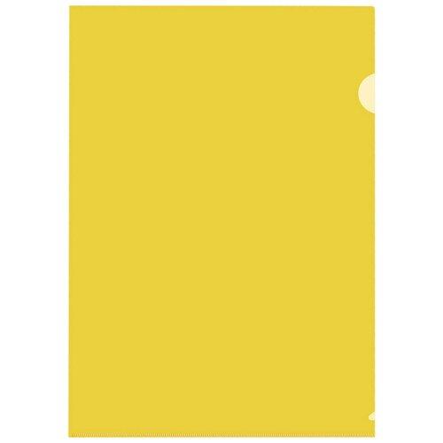 Купить Папка уголок, 150 мкм, желтый 10 шт/уп Россия, 4 уп, Attache, Файлы и папки
