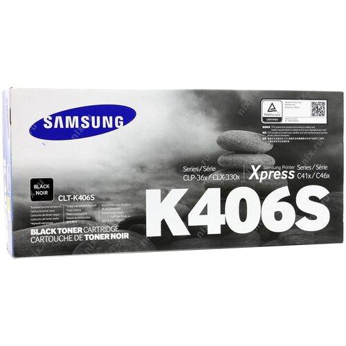 Фото - Картридж Samsung CLT-K406S Black картридж aquamarine clt k406s совместимый с samsung clt k406s clt 406s цвет черный на 1500 стр печати