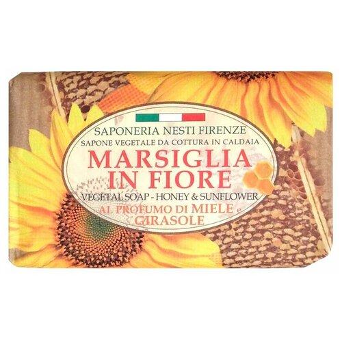 Мыло кусковое Nesti Dante Marsiglia in fiore Honey and Sunflower, 125 г недорого