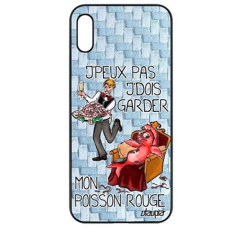 """Чехол для телефона Honor 8A, """"Не могу - у меня красная рыбка!"""" Комикс Карикатура"""