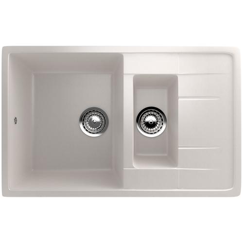 Фото - Врезная кухонная мойка 77 см EcoStone ES-22 331 белый врезная кухонная мойка 103 см ecostone es 29 308 черный