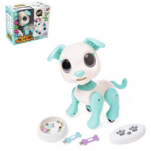 Фото - Робот-питомец радиоуправляемый, интерактивный Пёс, работает от аккумулятора, №SL-03043B 4503739 радиоуправляемые игрушки 1 toy интерактивный радиоуправляемый щенок робот дружок