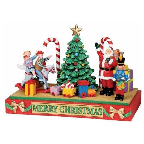 фигурка lemax платформа с рождественскими игрушками 10 4 x 18 x 10 см красный зеленый Фигурка LEMAX Платформа с рождественскими игрушками 10.4 x 18 x 10 см красный/зеленый