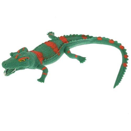 Игрушка-мялка Играем вместе Саркозух крокодил W6328-112T-R зеленый