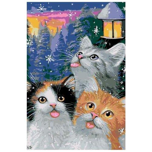 Купить Картина по номерам Живопись по Номерам Поймай снежинку , 40x60 см, Живопись по номерам, Картины по номерам и контурам