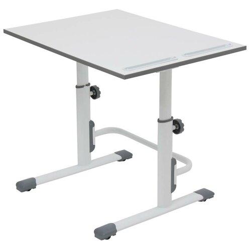 Купить Стол детский Polini Simple М1 75x55 см белый/серый, Парты и столы