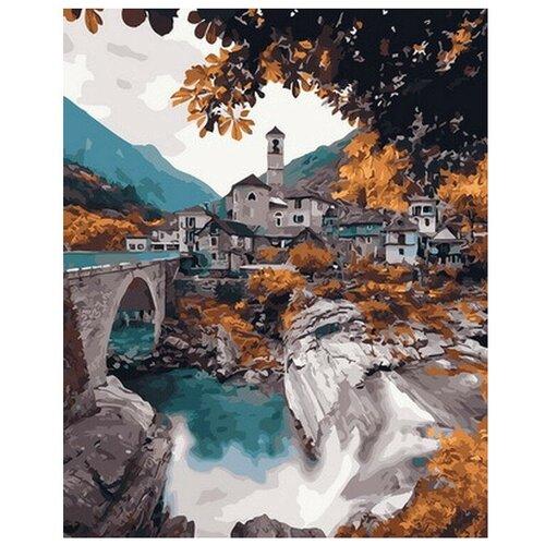 набор для рисования по номерам цветной элегантность в белом марка спейна 40 x 50 см Цветной картина по номерам Храм в горах, 40 x 50 см (GX30097)