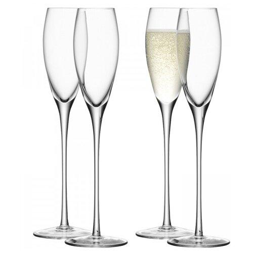 Бокал-флейта для шампанского Wine 4 шт. LSA G279-07-991 бокал для белого вина pearl 4 шт lsa g1332 12 401