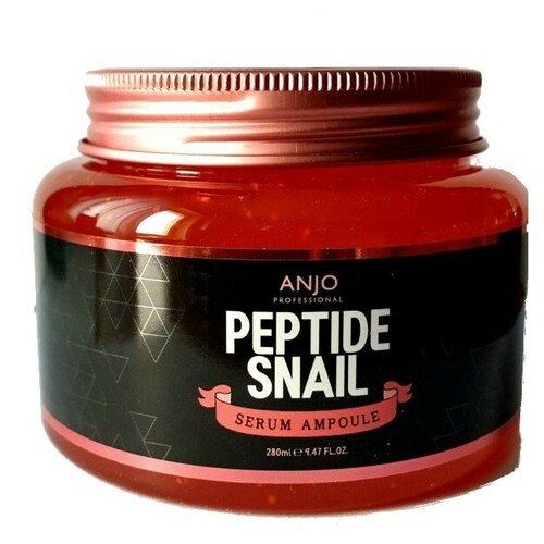 Фото - Anjo Professional Peptide Snail Serum Ampoule Омолаживающая сыворотка для лица с пептидами и муцином улитки, 280 мл омолаживающая сыворотка для лица с пептидами men s routtne youth restore peptide serum 30мл