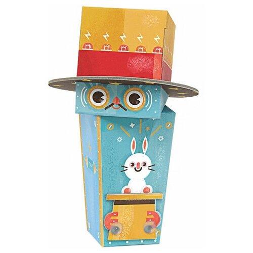3D-пазл Krooom Робот-фокусник (k-464), 4 дет. krooom игрушки из картона 3d пазл монстры k 701