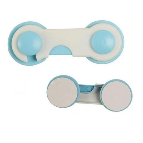 Блокиратор мебели для дверей и ящиков 2 шт в упаковке (голубой)
