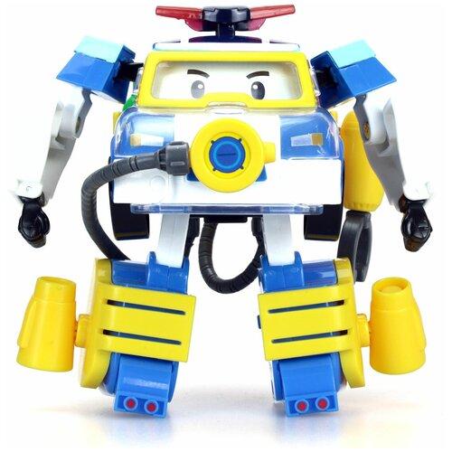 Купить Трансформер Silverlit Robocar Poli 10 см с костюмом водолаза белый/синий/желтый, Роботы и трансформеры