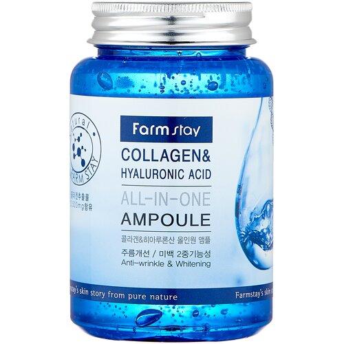 Farmstay All-In-One Ampoule Collagen & Hyaluronic Acid сыворотка для лица с гиалуроновой кислотой и коллагеном, 250 мл недорого